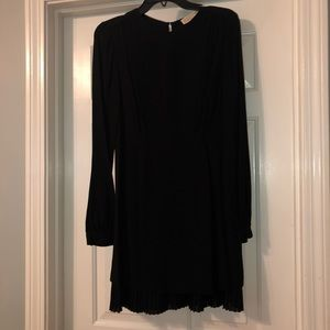 MICHAEL KORS black crepe shift dress